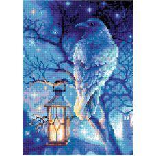 Алмазная мозаика Мудрый ворон, 27x38, полная выкладка, Риолис
