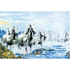 Набор для вышивания крестом Табун лошадей, 46X69, Белоснежка