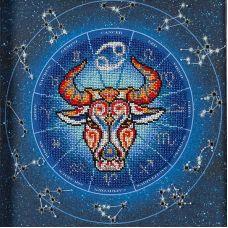Набор для вышивания бисером Год быка. Рак, 20x20, Кроше