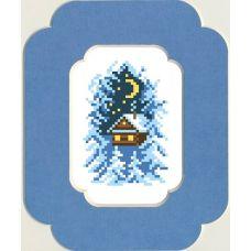 Набор для вышивания с бисером и паспарту Накануне Рождества, 13x18 (7x10), Матренин посад