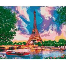 Живопись по номерам Луна в Париже, 40x50, Hobruk, HS4448