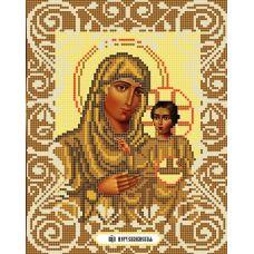 Канва с рисунком Богородица Иерусалимская, 20x25, Божья коровка