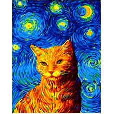 Живопись по номерам Вечерний кот, 40x50, Paintboy, GX35619