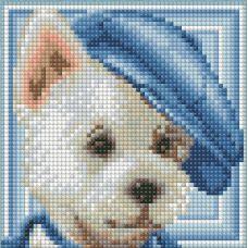 Мозаика стразами Вестик, 15x15, полная выкладка, Алмазная живопись