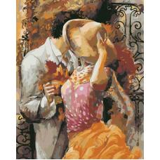 Живопись по номерам Поцелуй, 40x50, Hobruk, CM0036