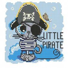 Канва с рисунком Пират, 20x20, Божья коровка
