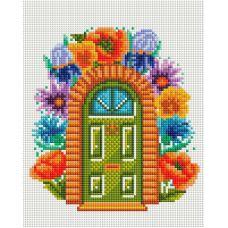 Алмазная мозаика Сказочная дверь, 20x25, полная выкладка, Белоснежка