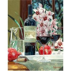 Живопись по номерам Налейте мне бокал вина, 40x50, Paintboy, GX26826