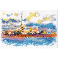 Набор для вышивания крестом Петропавловская крепость, 27x18, Овен