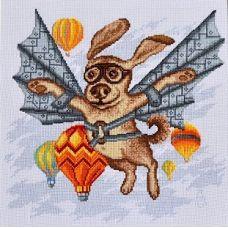 Набор для вышивания крестом Тест-полет, 27x27, Палитра