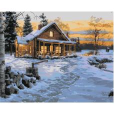 Живопись по номерам Зима. Вечер, 40x50, Hobruk, HS1324