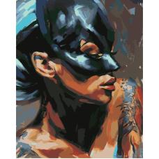 Живопись по номерам Незнакомка в маске, 40x50, Hobruk, CM0079