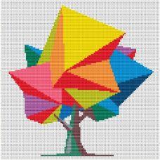 Набор для вышивания крестом Дерево желаний, 19,7x20,6, Тутти
