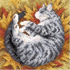 Алмазная мозаика Полосатая осень, 20x20, полная выкладка, Brilliart (МП-Студия)