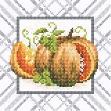 Алмазная мозаика Румяная тыква, 20x20, полная выкладка, Brilliart (МП-Студия)