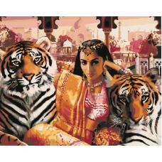 Живопись по номерам Индия, 40x50, Hobruk, CM0051