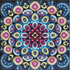 Мозаика стразами Мандала успеха, 40x40, полная выкладка, Алмазная живопись