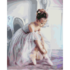 Живопись по номерам Балерина, 40x50, Hobruk, U8072