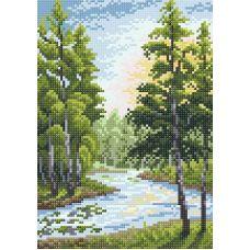 Алмазная мозаика Летний пейзаж, 19x27, полная выкладка, Brilliart (МП-Студия)