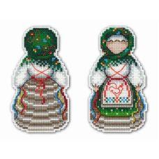 Набор для вышивания крестом на пластиковой основе Оберег. Желанница, 11x6, Жар-Птица (МП-Студия)