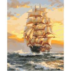 Живопись по номерам На всех парусах, 40x50, Hobruk, U8002