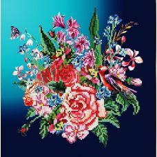 Канва с рисунком Весенний букет, 30x30, Божья коровка