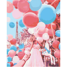 Живопись по номерам Следуй за мной. Париж, 40x50, Hobruk, HS1239