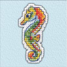 Набор для вышивания крестом Значок-Морской конек, 2,7x5,6, Овен