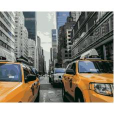Живопись по номерам Желтое такси, 40x50, Hobruk, HS0042