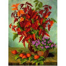 Рисунок на габардине Букет кленовых листьев, 50x40, МП-Студия, Г-002
