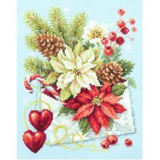 Набор для вышивания крестом С Рождеством!, 17x22, Чудесная игла