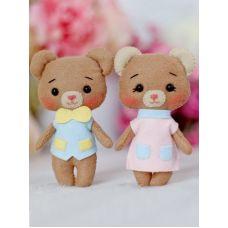 Набор для шитья куклы Медвежата Джилл и Тиша, 14 ,Тутти