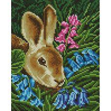 Алмазная мозаика Кролик, 20x25, полная выкладка, Белоснежка