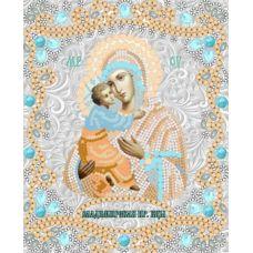 Ткань для вышивания бисером Богородица Владимирская, 15x18, Конек