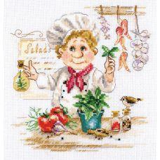 Набор для вышивания крестом Шеф-повар, 16x17, Алиса