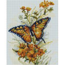 Алмазная мозаика Бабочка, 20x25, полная выкладка, Белоснежка