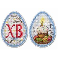 Набор для вышивания крестом на пластиковой основе Пасхальное настроение , 11x8, Жар-Птица (МП-Студия)