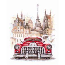 Набор для вышивания крестом Ретро-автомобиль. Бьюик, 16x20, Чудесная игла
