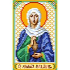 Рисунок на шелке Святая Анастасия, 22x25 (9x14), Матренин посад