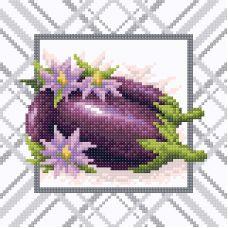 Алмазная мозаика Яркий баклажан, 20x20, полная выкладка, Brilliart (МП-Студия)