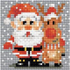 Алмазная мозаика Санта-Клаус, 10x10, полная выкладка, Риолис