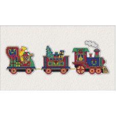 Набор для вышивания крестом Магнит Новогодний паровозик, 9x8 7x7(2), Овен