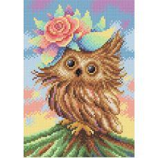 Алмазная мозаика Очаровательная совушка, 19x27, полная выкладка, Brilliart (МП-Студия)