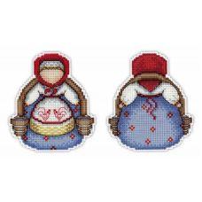 Набор для вышивания крестом на пластиковой основе Оберег. Богатушка, 10x9, Жар-Птица (МП-Студия)