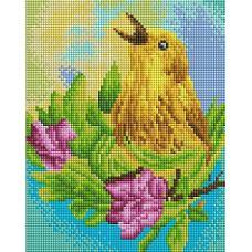 Алмазная мозаика Звонкий май, 20x25, полная выкладка, Белоснежка