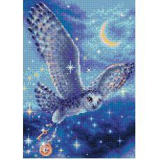 Алмазная мозаика Волшебная сова, 27x38, полная выкладка, Риолис