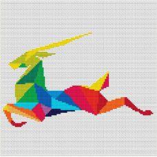 Набор для вышивания крестом Быстрая антилопа, 20,8x13,2, Тутти