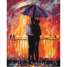 Живопись по номерам Цветной дождь, 40x50, Hobruk, HS1173