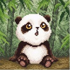 Алмазная мозаика Малыш-панда, 20x20, полная выкладка, Brilliart (МП-Студия)