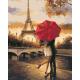 Живопись по номерам Поцелуй в Париже, 40x50, Hobruk, U8026